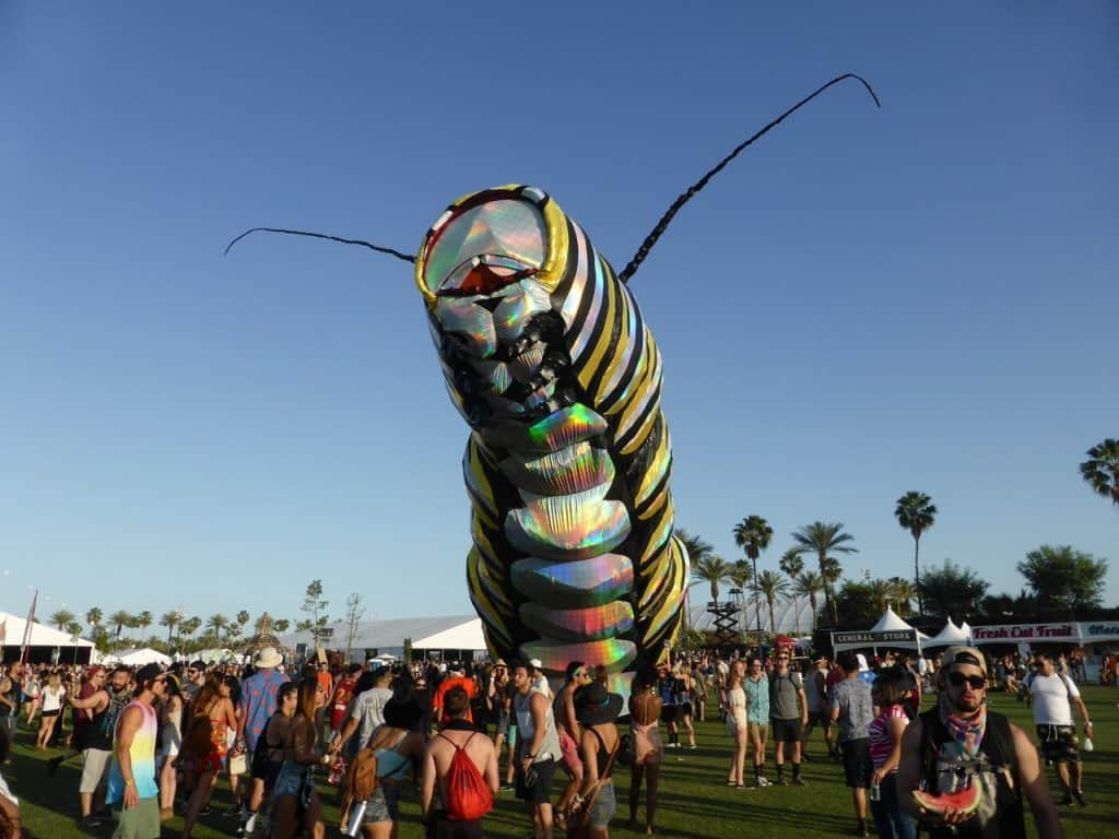 Coachella Caterpillar (Image Credits: Fred Von Lohmann / Flickr)