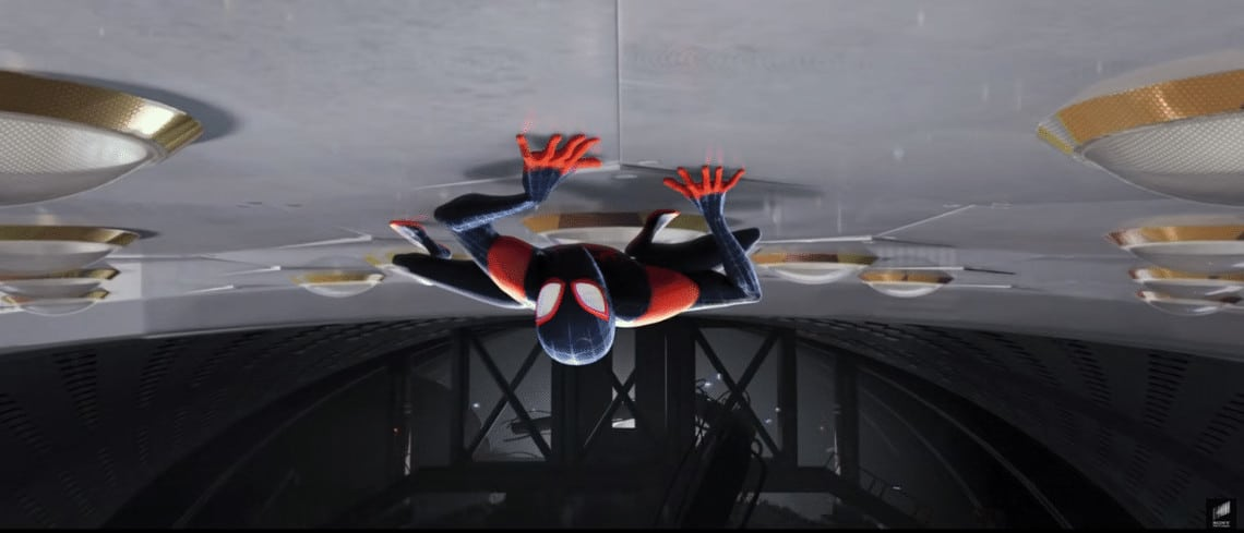 Into The Spider-verse Miles Morales Upside Down