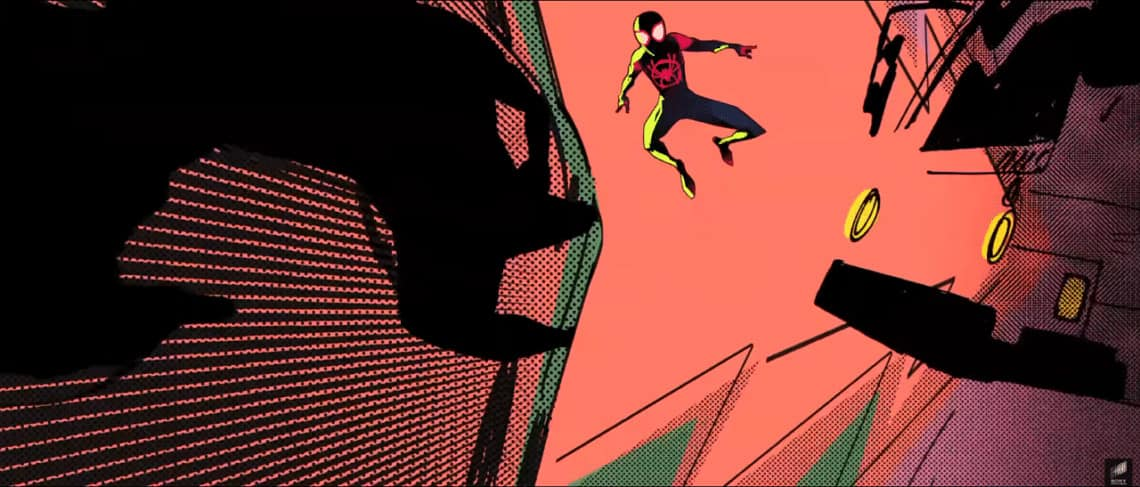 Into The Spider-verse Trailer Miles Morales in the streets