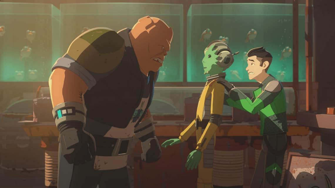 Star Wars Resistance Kaz has a rough first day on The Collosus