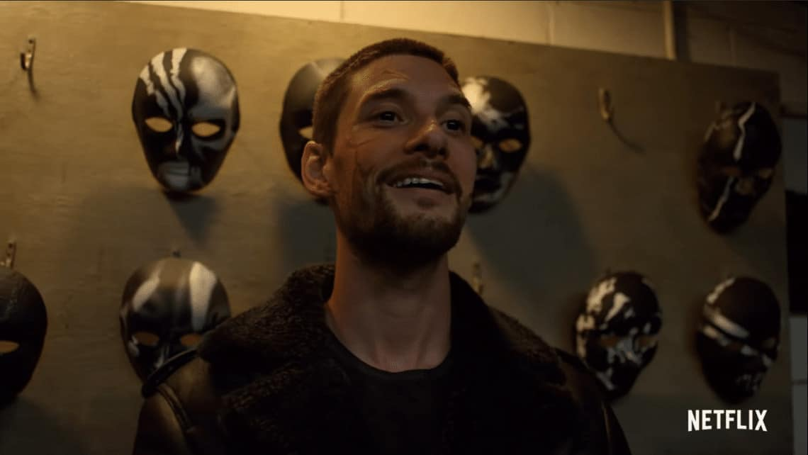 Punisher Season 2 Billy Russo as his new alter-ego, Jigsaw