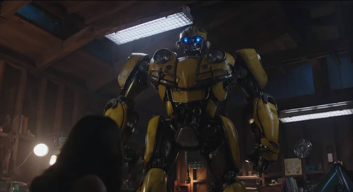 Bumblebee reveals himself to Charlie (Image Credits: Paramount Pictures / Hasbro)