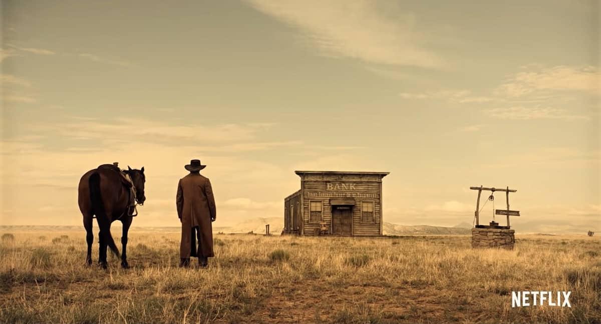 A gunman considers a lone bank (Image Credits: Netflix / Mike Zoss Productions)