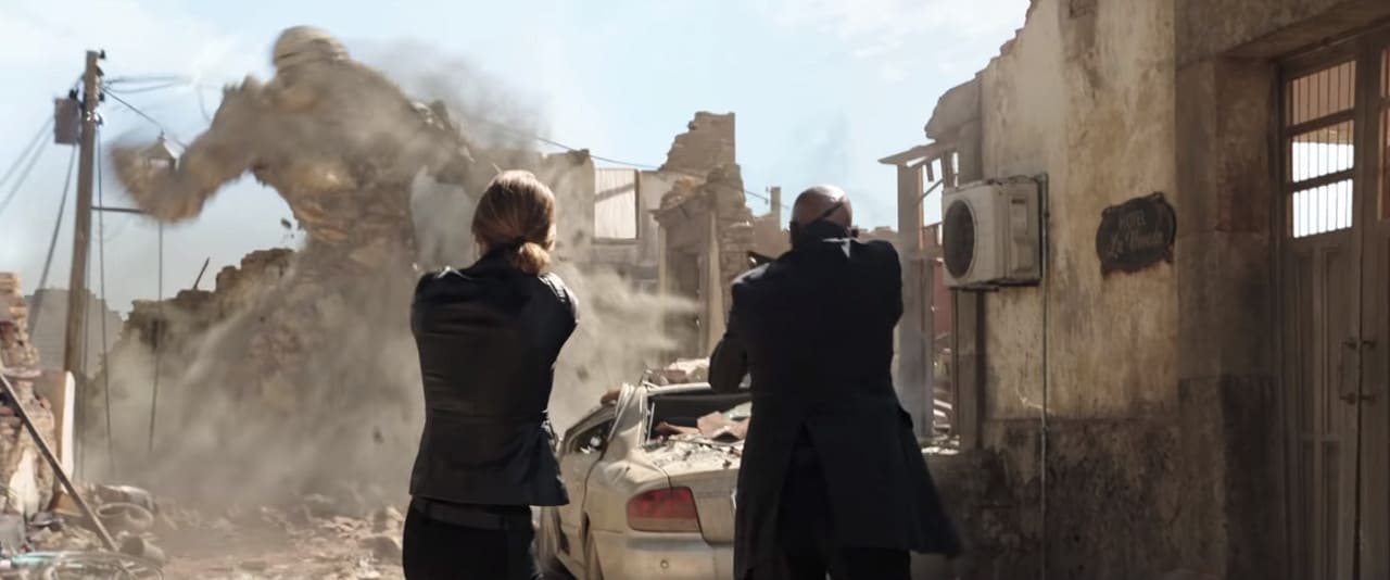 The mystery woman beside Nick Fury (Image Credits: Marvel Studios / Sony Pictures)