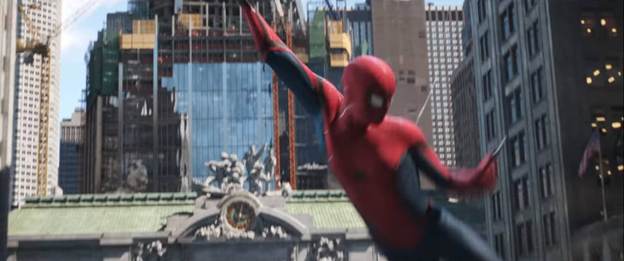 The tower behind Grand Central Station (Image Credits: Marvel Studios / Sony Pictures)