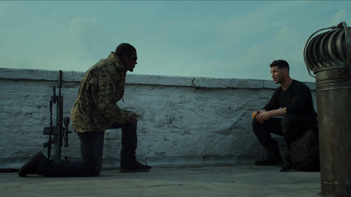 Curtis and Frank on a stakeout (Image Credits: Marvel / Netflix)