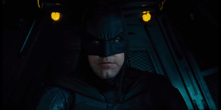 Batfleck in the cockpit of another Bat-vehicle (Image Credits: DC Entertainment / Warner Bros. Pictures)