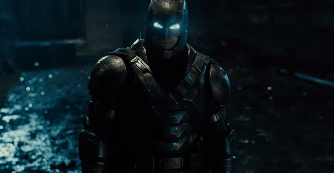 Batfleck in a suit designed to go toe-to-toe with Superman (Image Credits: DC Entertainment / Warner Bros. Pictures)