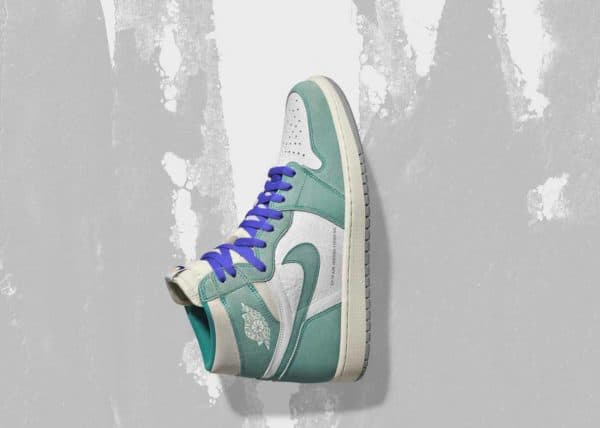 Paying homage to Charlotte, Air Jordan 1 Turbo Green features a vintage feel that showcases the colors of the city