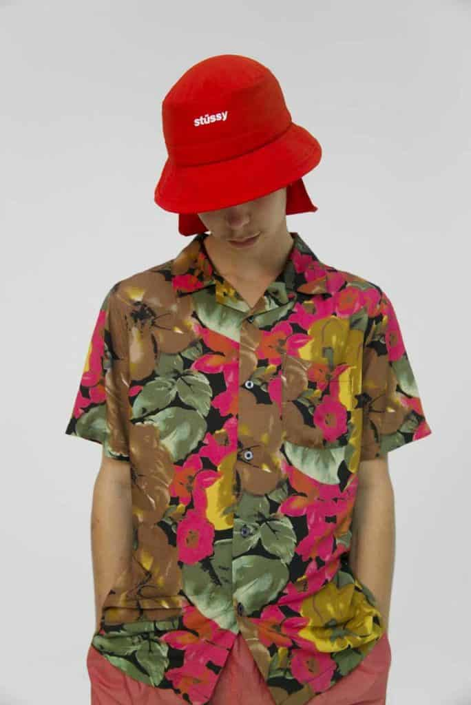 Stussy's Watercolor Flower Shirt just captures the essence of spring with its vibrant colors