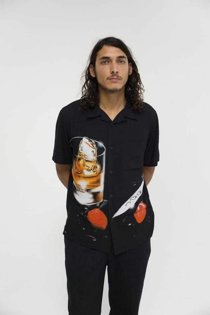 Nothing says carefree more than this stylish Stussy cocktail shirt