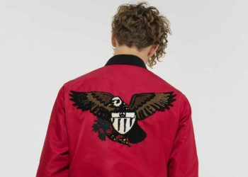 We love the emblazoned Eagle on this jacket from Stussy