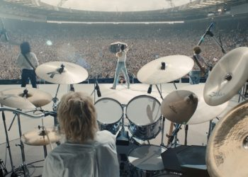 A recreation of Queen's legendary Live Aid performance which includes the titular song Bohemian Rhapsody (Image Credits: 20th Century Fox)