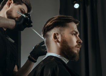 fade haircut for men barber