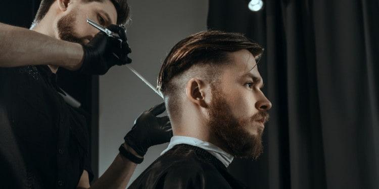 fade haircut for men barber
