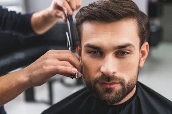short haircut styles for men man getting haircut