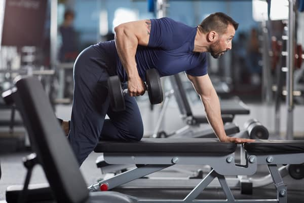 Proper form for a dumbbell row