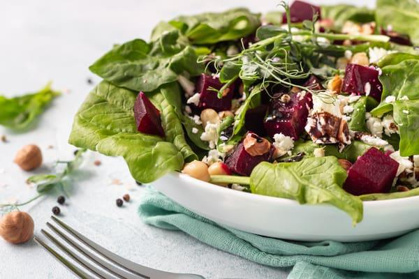 Roasted beet salad recipe.