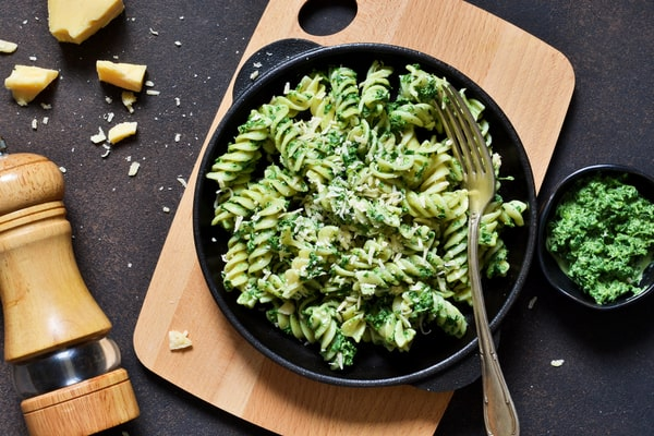 Delicious kale pesto rotini recipe