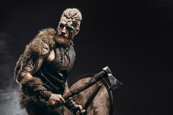 Muscular Viking portrayed by Durand