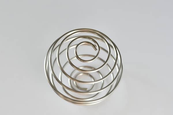 BlenderBottle patented metal whisk.