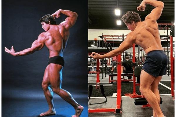 Side by side: like father like son