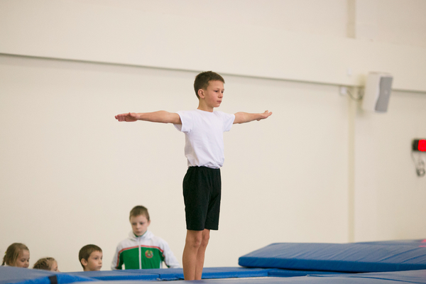 Training for Olympic Trampoline